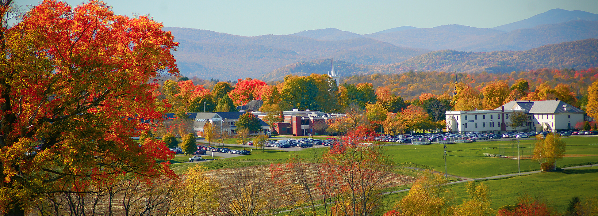 Randolph Center campus amidst beautiful fall foliage.